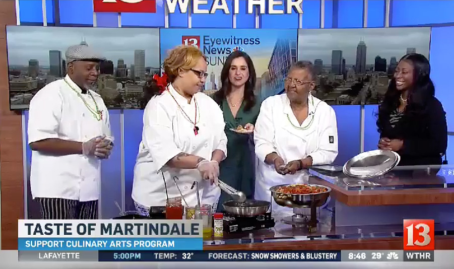 Edna Martin Christian Center's culinary arts program highlighted on WTHR's Saturday Sunrise show.