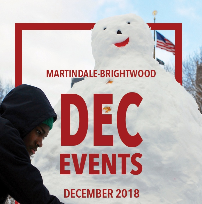 Neighborhood events for the month of December, 2018.