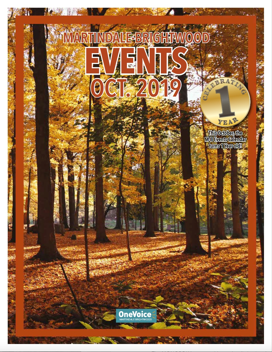 The October 2019 Events Calendar for Martindale-Brightwood