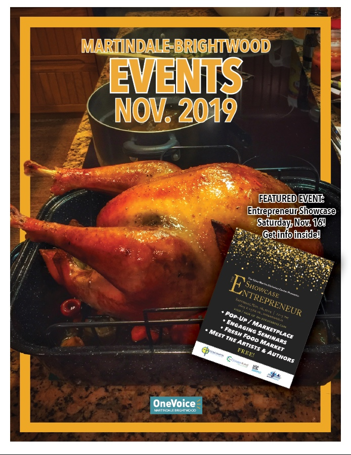 The November 2019 Events Calendar for Martindale-Brightwood