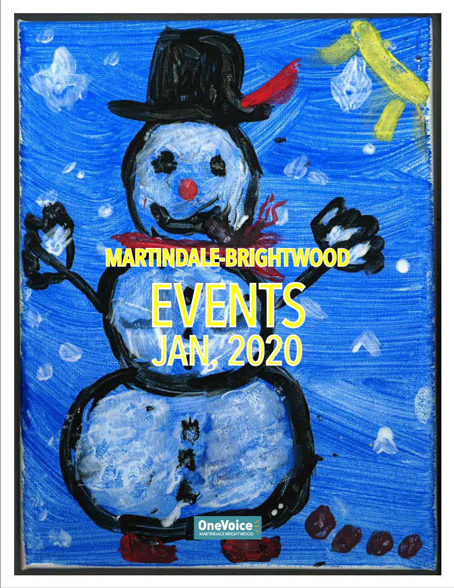 The January 2020 Events Calendar for Martindale-Brightwood